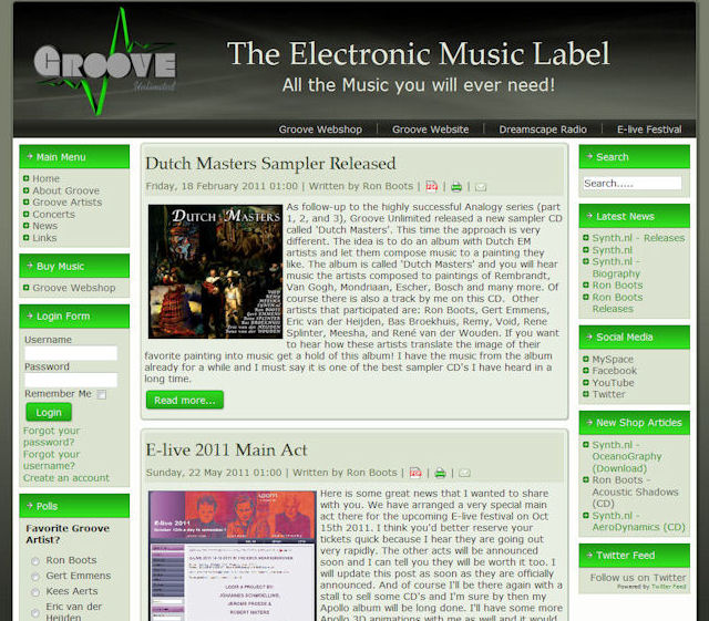 Groove Unlimited Website